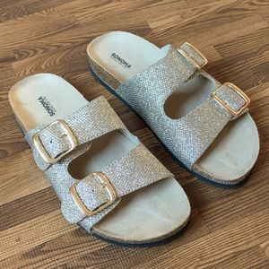 NEW Sonoma Artwork Women's Gold Glitter Sandals